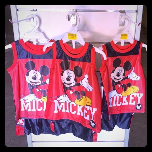 Disney Other - Mickey Mouse shirt and shorts set size 12m 18m 24m